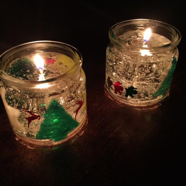 クリスマスジェルキャンドル