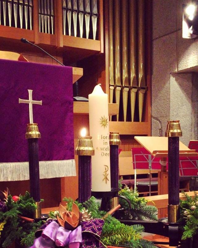 クリスマス礼拝キャンドル