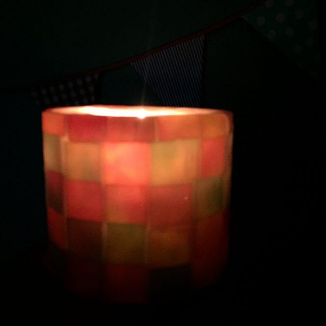 灯すタイルキャンドル