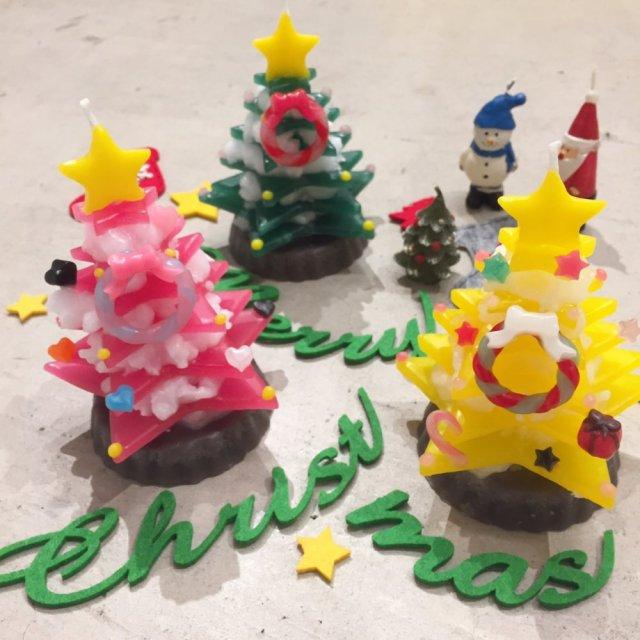 クリスマスツリーキャンドル