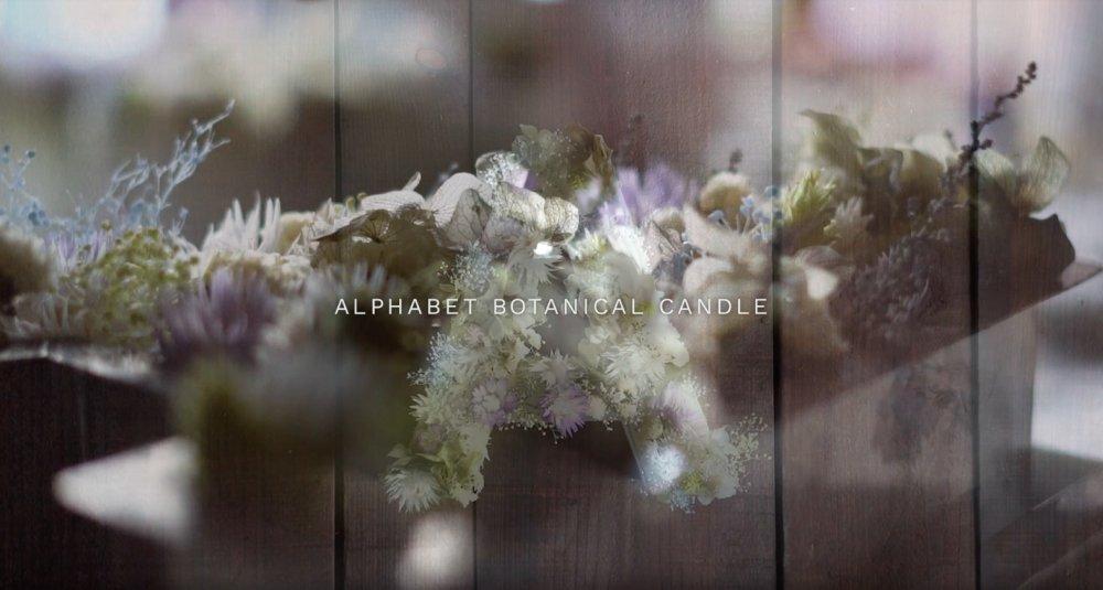 ALPHABET BOTANICAL CANDLE