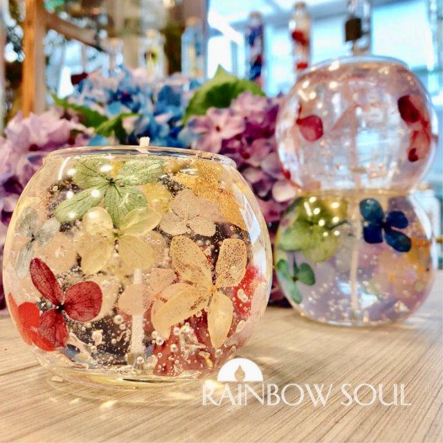 アジサイジェルキャンドル紫陽花キャンドル