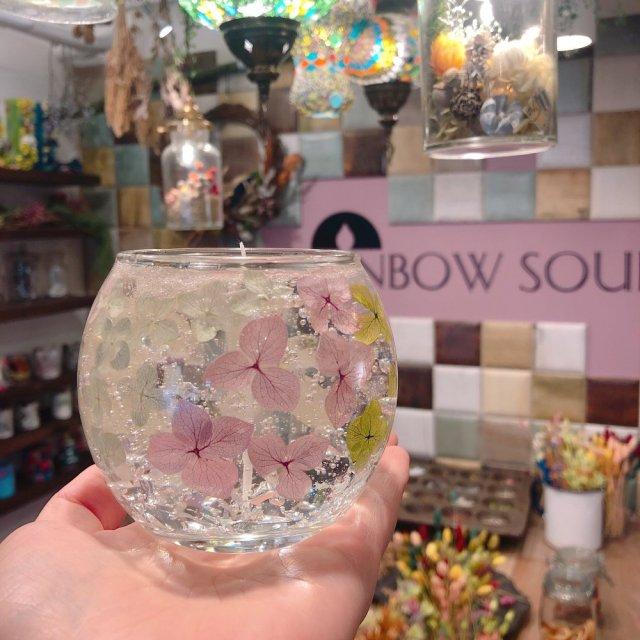 紫陽花ジェルキャンドル