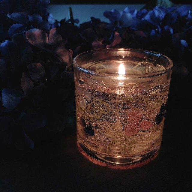 紫陽花キャンドルホルダー